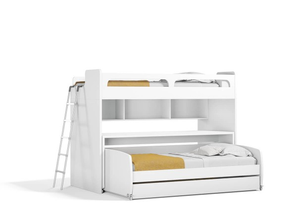 Gautreau Twin Over Twin L-Shaped Bunk Bed With Trundle