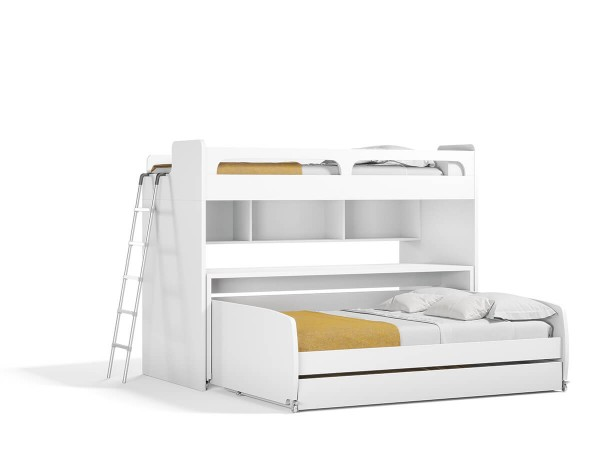 Gautreau Twin L-Shaped Bunk Bed with Trundle and Drawers
