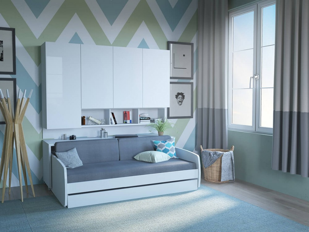 Rincon Compact Full Double Storage Murphy Bed