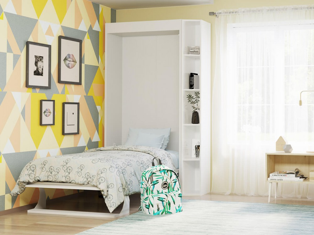 Hel Twin Murphy Bed With Mattress